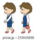 スーツ会社員女性・歩く2 25940896