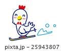 スキーを楽しむ酉 25943807