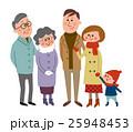 家族 三世代家族 人物のイラスト 25948453