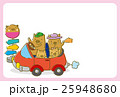 ドライブをするイノシシの家族(ハガキテンプレート) 25948680