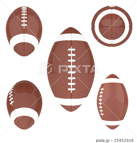 American Football ball isolated on a whiteのイラスト素材 [25952019] - PIXTA
