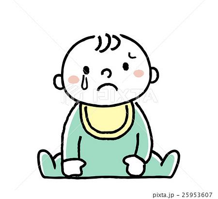 赤ちゃん悲しい表情のイラスト素材 25953607 Pixta
