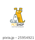 Vector logo design template for pet shops 25954921