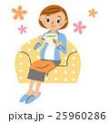 妊婦 紅茶 女性のイラスト 25960286
