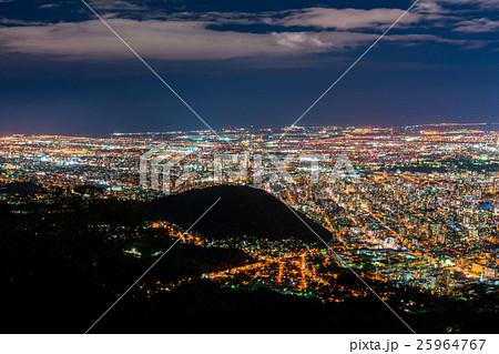 【北海道】札幌の夜景【藻岩山より】 25964767
