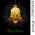 Christmas and New Year gold decoration bell 25965456