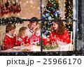 クリスマス 家族 食事の写真 25966170