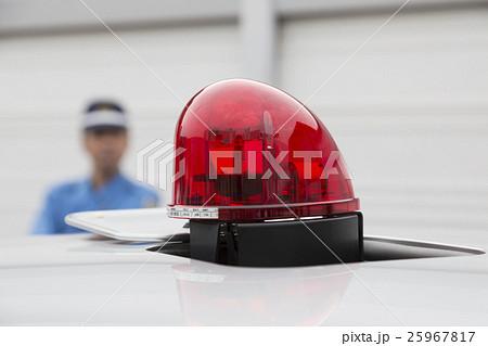 覆面パトカーの赤色灯 25967817