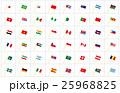 万国旗ポール波斜め枠 25968825