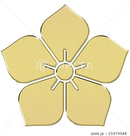 家紋(明智光秀)桔梗紋 金色 Family crest 25974088