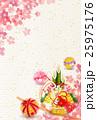 酉 桜 年賀状 背景  25975176