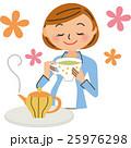 妊婦 紅茶 女性のイラスト 25976298