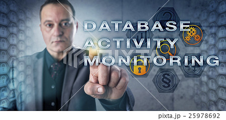 Manager Touching DATABASE ACTIVITY MONITORINGの写真素材 [25978692] - PIXTA
