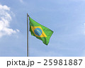 National flag of Brazil on a flagpole 25981887
