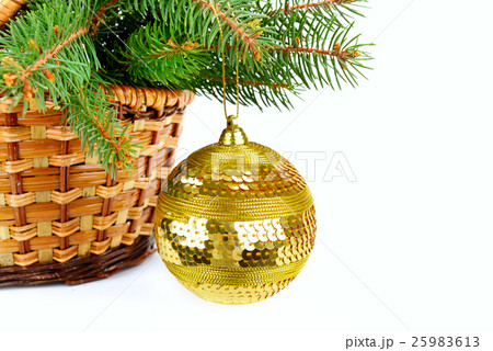 Christmas decoration isolated on white backgroundの写真素材 [25983613] - PIXTA