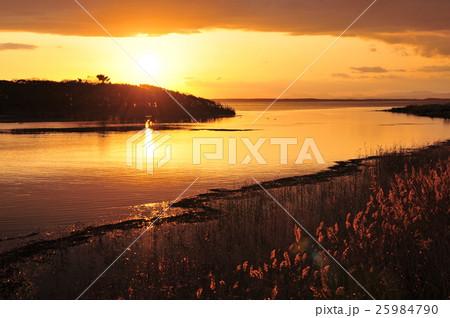 野付半島の夕日 25984790