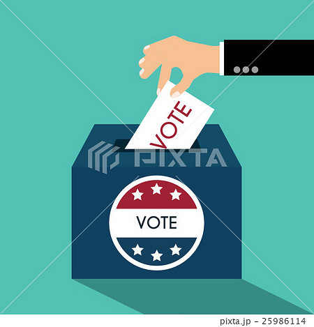 Presidential Election Day Vote Box.のイラスト素材 [25986114] - PIXTA