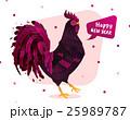 ニワトリ おんどり 雄鶏のイラスト 25989787