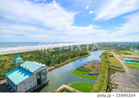 洪水対策の排水施設 東部排水機場を撮影 25990204
