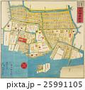 古地図「江戸切絵図」築地・八町堀・日本橋南絵図  25991105