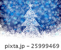 クリスマス クリスマスツリー 雪のイラスト 25999469