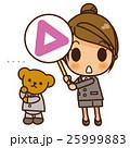 女性 三角 曖昧のイラスト 25999883