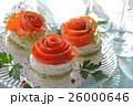 サーモン カナッペ 前菜の写真 26000646