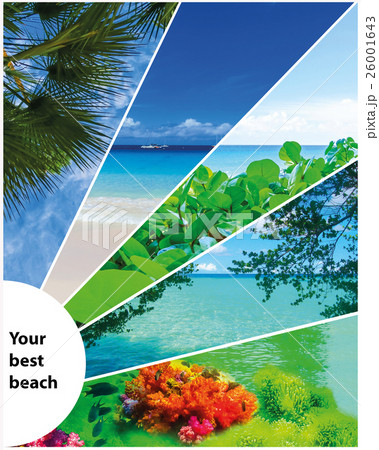 Collage of summer beach images - nature and travel 26001643
