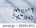 雪に書いた文字 26001941
