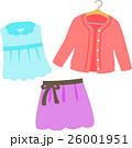 女性向けのブラウス、カーディガン、スカート 26001951