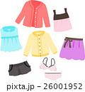 女性用の洋服のイラストセット 26001952
