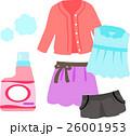 女性用の洋服と洗濯洗剤 26001953