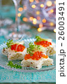 いくら カナッペ 前菜の写真 26003491