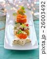 いくら カナッペ 前菜の写真 26003492