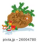 クリスマス グリーティング 新年のイラスト 26004780