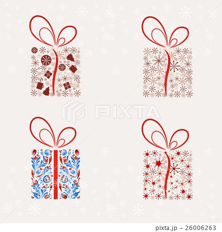 Set of Abstract Christmas present box.のイラスト素材 [26006263] - PIXTA