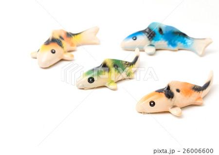 Ceramic of Koi fish sculptors. Use to decorateの写真素材 [26006600] - PIXTA