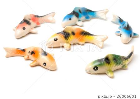 Ceramic of Koi fish sculptors. Use to decorate の写真素材 [26006601] - PIXTA