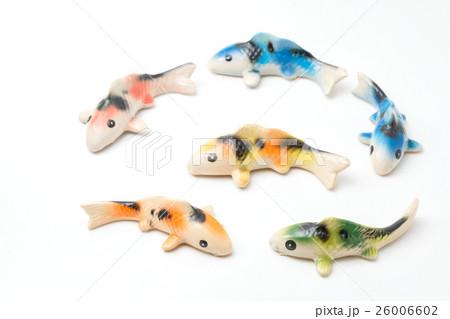 Ceramic of Koi fish sculptors. Use to decorateの写真素材 [26006602] - PIXTA