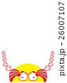 ベクター ひよこ 年賀状素材のイラスト 26007107