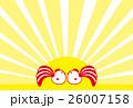 年賀状2017 にわとり 酉年 紅白しっぽ 26007158