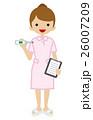 体温計を持つ看護師 26007209