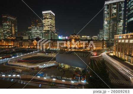 東京駅の夜景 26009263
