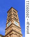 パサデナにある古い教会の時計塔 26009311