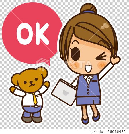オンナノコ 制服ベスト(青) OK 26016485
