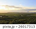 釧路 湿原 夕暮れの写真 26017313