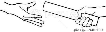 バトンパスのイラスト素材 26019394 Pixta