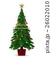 クリスマス 飾り クリスマスツリーのイラスト 26022010