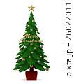 クリスマス 飾り クリスマスツリーのイラスト 26022011