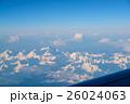 飛行機からの朝焼け 26024063